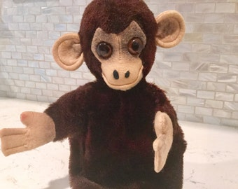 Monkey Chipmanzee Hand Puppet Stuffed Animal