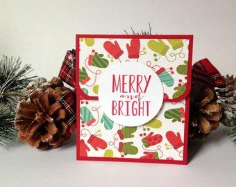 Christmas Gift Card Holder - Holiday Gift Card Holder Set - Gift for Neighbor - Teacher Christmas Gift - Coworker Christmas Gift - Giftcard