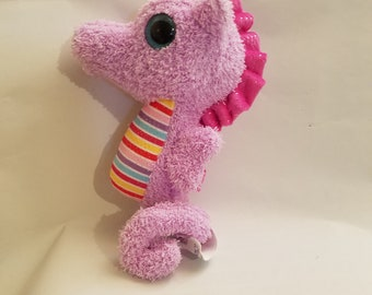 Pink Seahorse, Stuffed Animal, Pink, Personalized