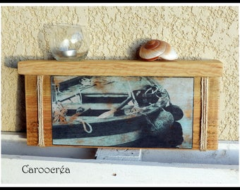 """boat"" recycled pallet wood shelf"