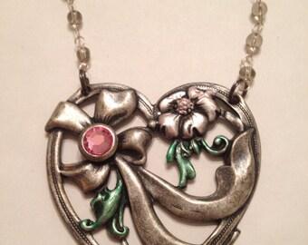 Huge Vintage Heart Necklace
