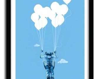Affiche ballon swing par Carbine
