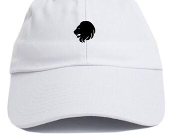 Leo Zodiac Sign Unstructured Adjustable Dad Hat Brand New-White