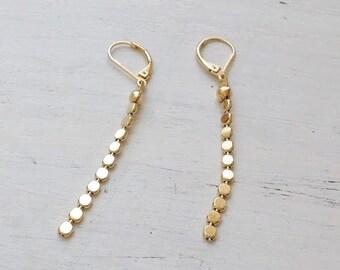 gold earrings,long gold earrings,gold earrings dangle,gold filled earrings,dangle earrings,gold drop earrings,minimalist jewelry