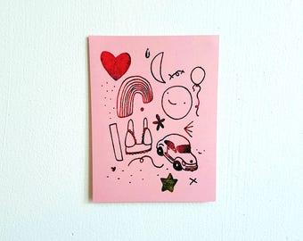 Gocco Pink Art Print