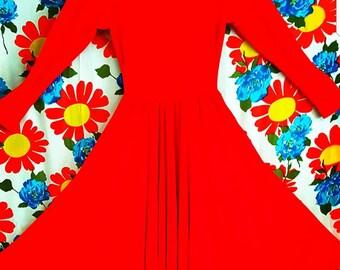 Elegant Red Vintage Dress