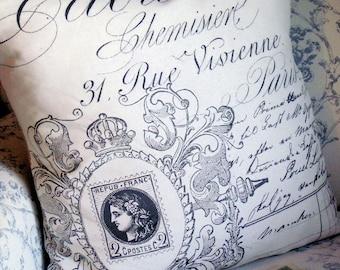 Rue Vivienne French Design Linen Pillow Slip