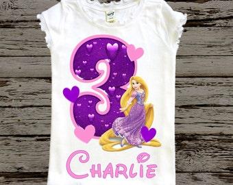 Tangled Girls Birthday Shirt Rapunzel Toddler
