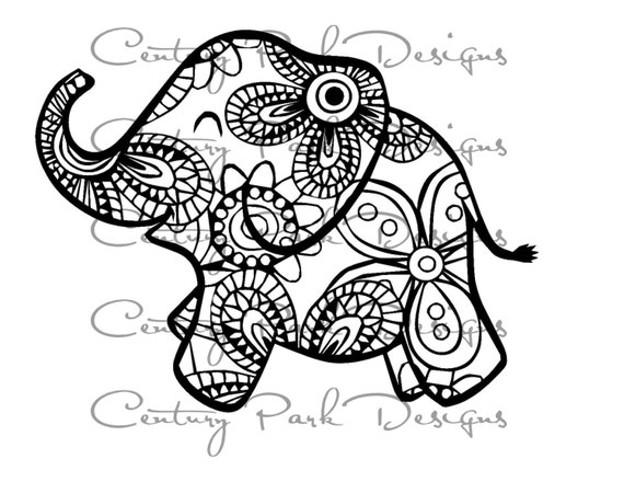 mandala elephant coloring pages easy - photo#44