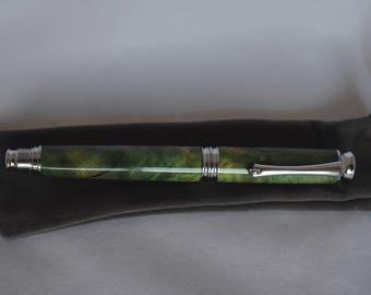 Green Box Elder Metro Rollerball Pen