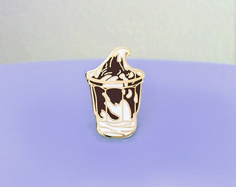Chocolate Fudge Sundae Enamel Pin