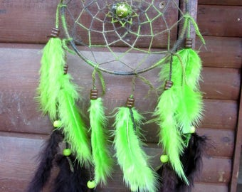 Dream catcher Brown and green / actual 45 cm