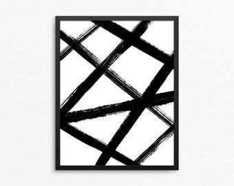 Abstract Print, Abstract Art, Modern Print, Black and White Art, Modern Art, Minimalist Art, Abstract Poster, Abstract Digital Print