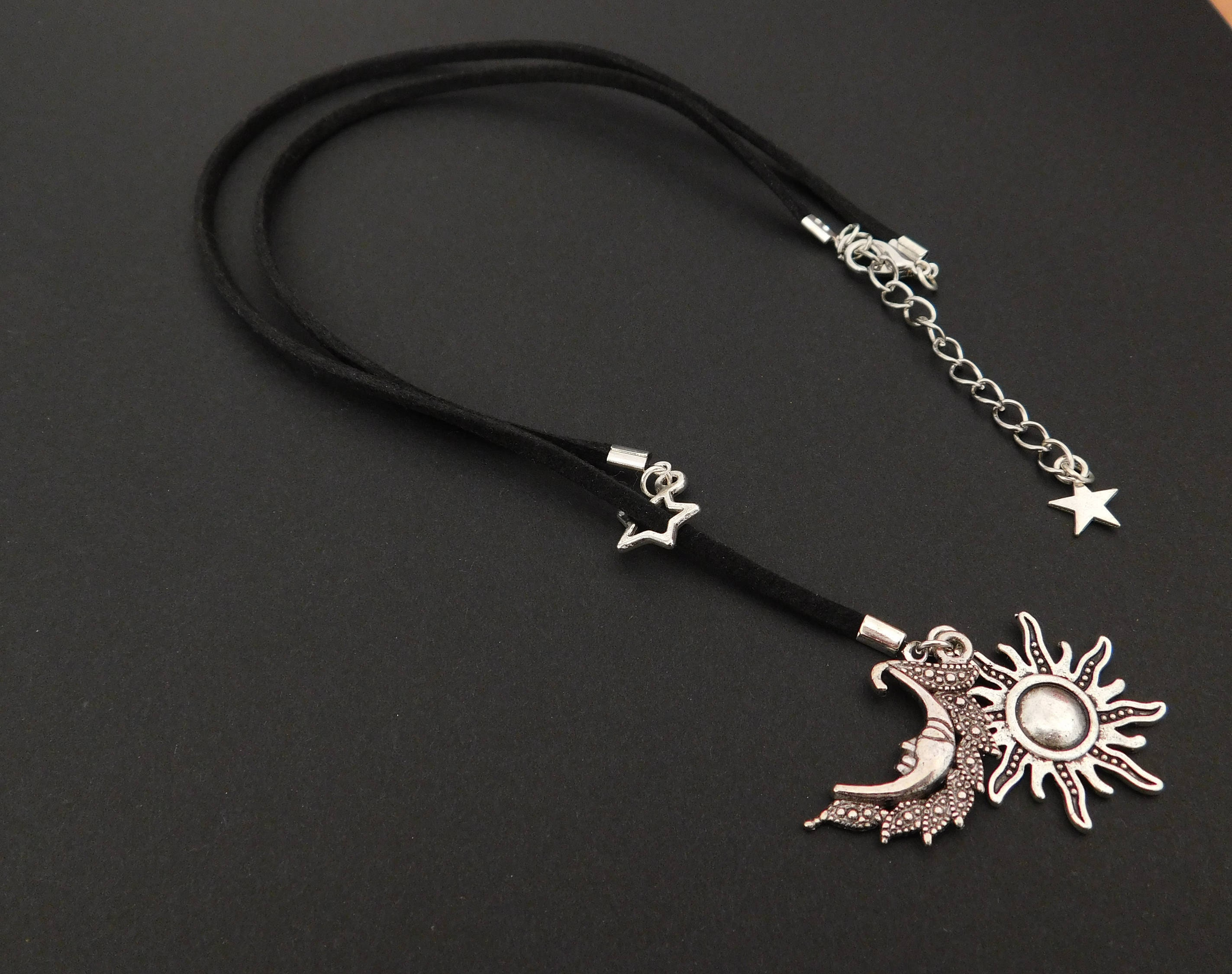 sun silver necklace bluebillie big moon product
