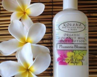 Plumeria Blossom-Organic Coconut Milk Body Lotion-MADE IN HAWAII