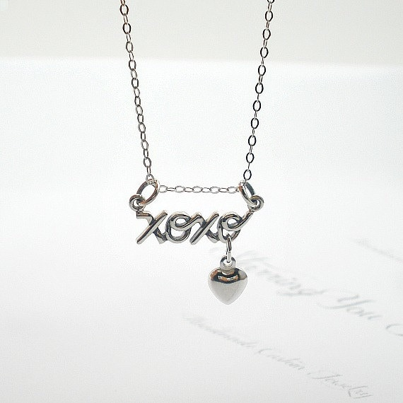 Xoxo Necklace Girlfriend Birthday Gift Gift For Her Heart
