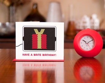 Brite Birthday - Vintage Toy Inspired Birthday Card on 100% Recycled Paper