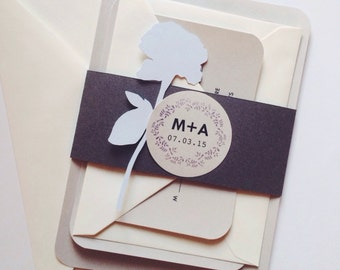 Minimal Wedding Invitation, Invite Suite