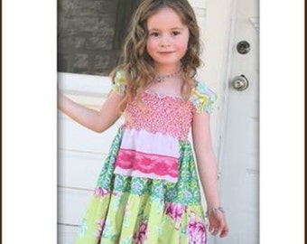 The Lydia Dress by Pink Fig Designs 6 mos.~ 10 Years Pattern