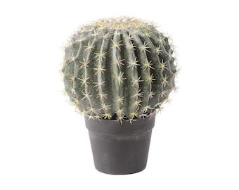 Libra Faux Decorative Round Cactus in Pot 34cm