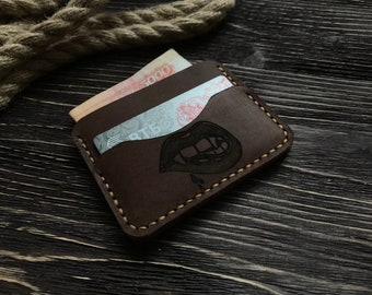 Wallet, The Inside Out Men's Leather Wallet, Minimalist Wallets, Leather Wallets