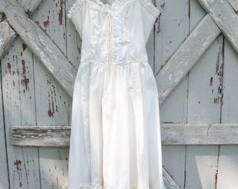 1970s Jessica McClintock Gunne Sax prairie dress S M
