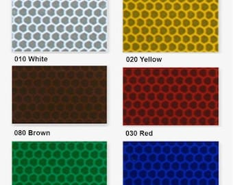 "Highly Reflective Vinyl Sheets - Oralite 5800 - 9.8"" x 7.8"" (25 x 20 cm). 6 colors available. Decal Vinyl, Self Adhesive Vinyl, Craft Vinyl"