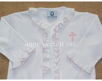 Baby Girl Baptism Outfit-Baby Girl Christening Outfit-Baby Girl Baptism Clothes-Personalized Baptism Outfit-Baptism Clothes-Pima Cotton Baby