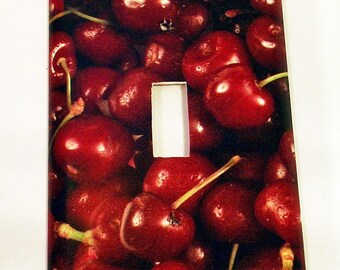 Light Switch Plate Switchplate  Wall Decor Single  in Cherries Jubilee (250S)