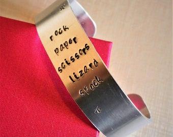 Aluminium stamped cuff
