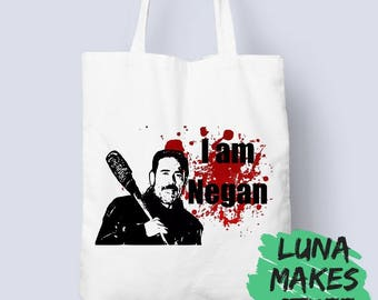 I am Negan // The Walking Dead // TWD // Lucile // Tote Bag