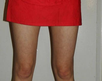 Red Skirt with Large Belt Pouch (1980s)