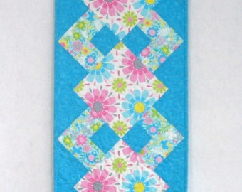 """Simply a Pleasure Table Runner Kit for Sale, Tribeca Collection by Timeless Treasurers, 42"""" x 13.5"""", Teal, Pink, Blue, White"""