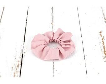 Scrunchies made organic cotton pink