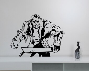 Jason Voorhees Wall Sticker Vinyl Decal Friday the 13th Movie Art Decorations for Home Housewares Living Room Bedroom Horror Decor jvh2