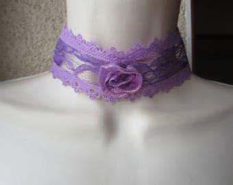 The purple Choker necklace