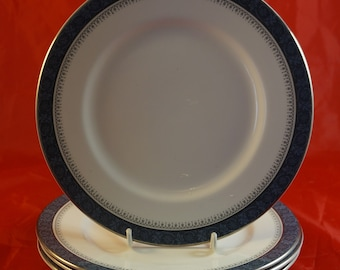 Lot 0f 4 Luncheon Plates from Royal doulton in the Sherbrooke Pattern