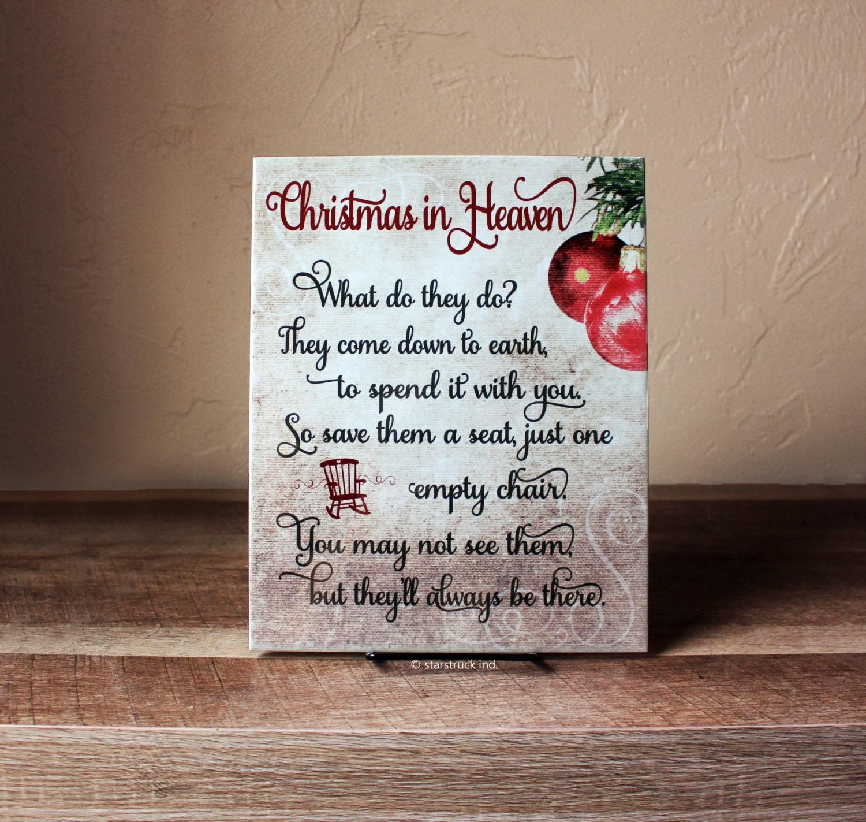 It's just an image of Striking Christmas in Heaven Poem Printable