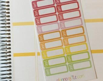 Appointment Planner Stickers / Doctor / Dentist / Erin Condren /EC101W