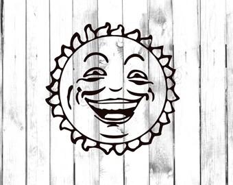 Smiling Sun, Sunshine - Car/Computer/IPhone/Truck/Home/Laptop Decal