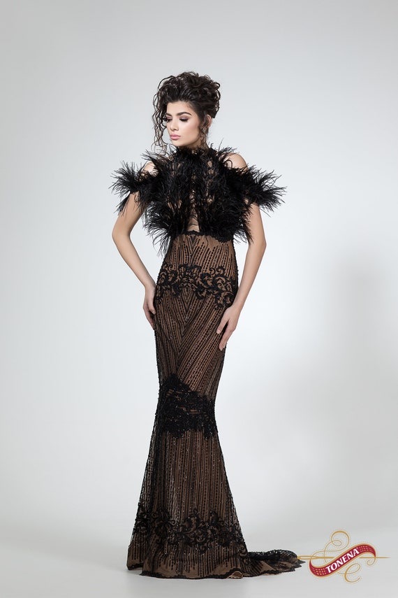 Abendkleid schwarz Mutter der Braut oder Bräutigam Kleid