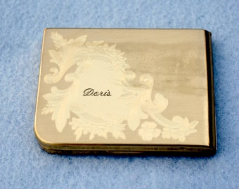 Elgin American Etched and Engraved Compact Vintage