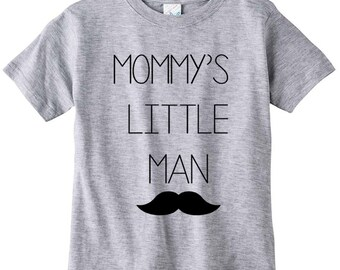 Cute Funny Baby Crew Neck Tee Mommy's Little Man