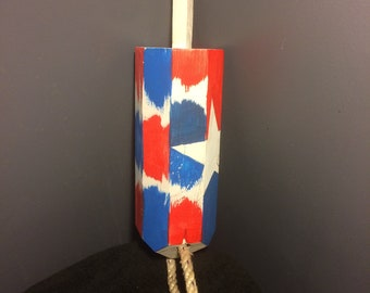 Handmade Wooden Lobster Trap Buoy - American Theme