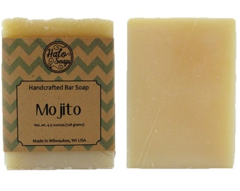 Mojito Essential Oil Bar Soap - Comfrey Infusion - Spearmint and Lime