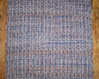 Handmade 100% Cotton Rag Rug - Country Blue-Red Multi (Inv. ID# 02-1061)