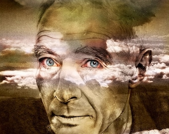Robert Oppenheimer, portrait ART, custom portrait, father of the atomic bomb, physicist, WWII, nuclear war