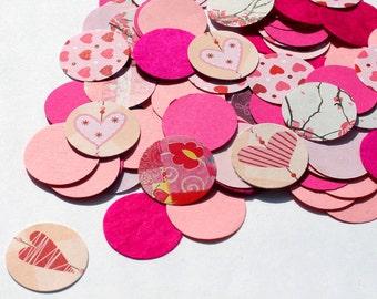 200 Confetti Circles Table Decor pink