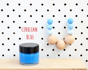 Wood Paint  - Cerulean Blue- 15ml jar - 10 Beautiful Colours Available.
