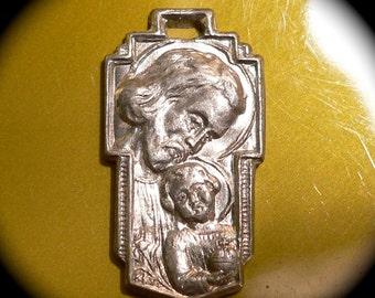 ST. JOSEPH MEDAL Antique Vintage Religious Canadian